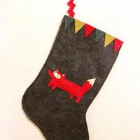 Liam the Woodland Fox Holiday Stocking Made to by sleepyking