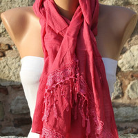 Hot Pink - Shawl Scarf -  Cowl by Fatwoman
