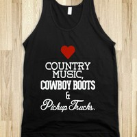 Heart Country music, cowboy boots, pickup trucks - Country Shirts - Skreened T-shirts, Organic Shirts, Hoodies, Kids Tees, Baby One-Pieces and Tote Bags