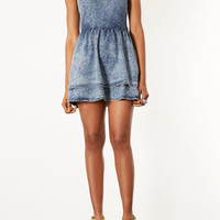 MOTO Acid Denim Flippy Dress - Dresses  - Clothing