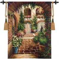 Pure Country Weavers Courtyard Vista Tapestry - 2782-WH - All Wall Art - Wall Art &amp; Coverings - Decor