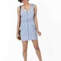 Nostalgic Dreams Denim Dress | Retro Denim Dress | Textured Denim Dress | MessesOfDresses.com
