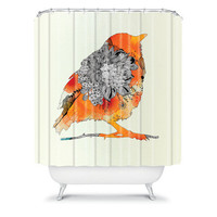 DENY Designs Home Accessories | Iveta Abolina Orange Bird Shower Curtain