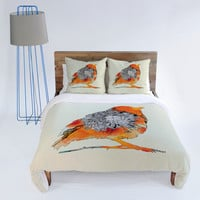 DENY Designs Home Accessories | Iveta Abolina Orange Bird Duvet Cover
