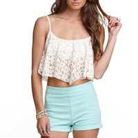 Kirra Lace Flutter Tank at PacSun.com