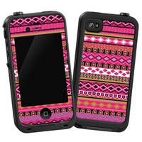 Pink Geometric Tribal Skin for Lifeproof iPhone 4/4s Case