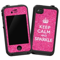 Keep Calm and Sparkle Skin for Lifeproof iPhone 4/4s Case