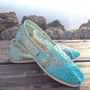 OMBRE CROCHET TOMS Dip Dye Crochet Ombre Toms Tiffany Blue