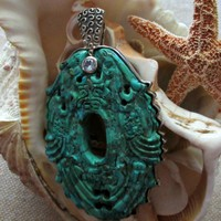 Turquoise and Topaz Sterling Silver Pendant Amy Kahn Russell