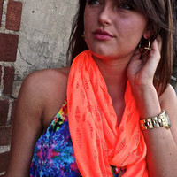 Neon Orange Scarf | The Rage