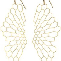 "Nervous System ""Radiolaria"" Gold-Plated Earrings"
