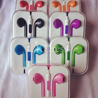 [3317-Purple] Colorful Purple In Ear Headphones with Remote for iPhone 5