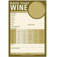 Rate That Wine Pad - Wine Judging Note Pad - Whimsical &amp; Unique Gift Ideas for the Coolest Gift Givers