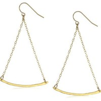 "gorjana ""Taner"" Gold-Tone Swing Chain And Bar Charm Earrings"