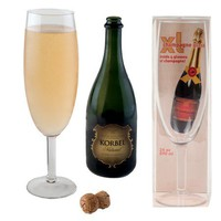 Extra Large XL Glass of Champagne: Holds An Entire Bottle! - Whimsical & Unique Gift Ideas for the Coolest Gift Givers