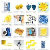 Blue Skies &amp; Sunshine by Heather Jean on Etsy