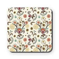 Wired Flower Square Coaster&gt; Coasters &amp; Tiles&gt; Janet Antepara Designs