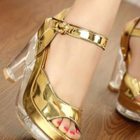 Ladies High Heel Fashion Evening Strap Sandals