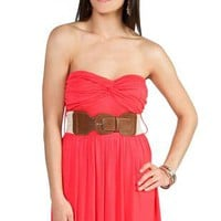 strapless day dress with knot front and bubble hem - 1000047305 - debshops.com