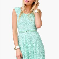 Count Crosses Dress - Mint at Necessary Clothing