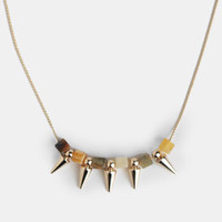 Studded Reality Necklace - $14.00 : ThreadSence, Women&#x27;s Indie &amp; Bohemian Clothing, Dresses, &amp; Accessories