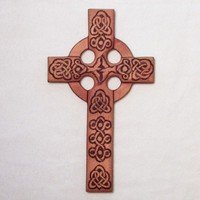 Traditional Celtic Heart-Love and Peace Wooden Celtic Christian Cross | signsofspirit - Woodworking on ArtFire