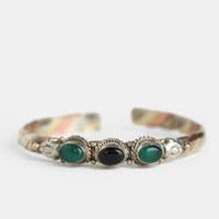 Indica Cuff in Onyx By Vanessa Mooney - $35.00 : ThreadSence, Women&#x27;s Indie &amp; Bohemian Clothing, Dresses, &amp; Accessories