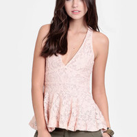 Dollhouse Lace Peplum Blouse - $34.00 : ThreadSence, Women&#x27;s Indie &amp; Bohemian Clothing, Dresses, &amp; Accessories