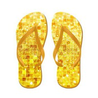 Gold Summer Disco&gt; Flip Flops&gt; Dreams.Inc