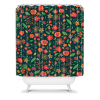 DENY Designs Home Accessories | Arcturus Spring Florals Green Shower Curtain