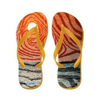 Zebra Sunrise Flip Flops&gt; Flip Flops&gt; Flip Flops Mania