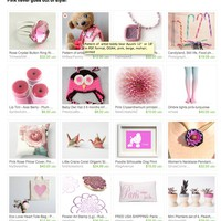 Pink never goes out of style! by PopArtPortraits on Etsy