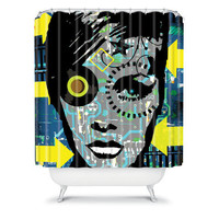 DENY Designs Home Accessories | Amy Smith Feeling Blue Shower Curtain