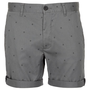 Grey Peace Sign Chino Shorts