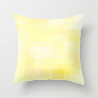Re-Created Colored Squares No. 2 Throw Pillow by Robert Lee