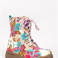 Nature Breeze GWEN-02HI Floral Midcalf Boots | Shop Shoes