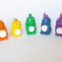 RAINBOW DINOSAURS  necklace or phone charm  choose by FrozenNote