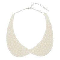 Cream spike Peter Pan necklace