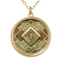 Freedom N.A. Gold Tone Necklaces from Zazzle.com