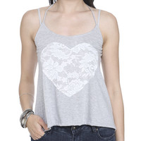 Heart Applique Lace Tank | Shop Sale at Wet Seal