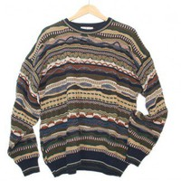 Textured Horizontal Stripe Cosby Style Tacky Ugly Sweater Men's Size XL $25 - The Ugly Sweater Shop