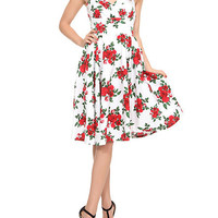 Hell Bunny Red Rose Dress