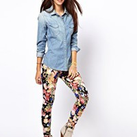 Only Floral Legging at asos.com