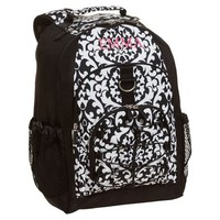 Gear-Up Black Damask Backpack