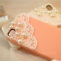 Romantic moments — 051007 Lace iphone 4/4s/5 case