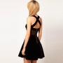 Romantic moments — 2341 Velvet gauze stitching back cross - strap halter dress