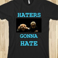 Haters gonna hate - Clever Clothes - Skreened T-shirts, Organic Shirts, Hoodies, Kids Tees, Baby One-Pieces and Tote Bags