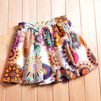 Romantic moments — Fresh floral girl skirt tutu