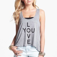 Workshop 'Love You' Tank (Juniors) | Nordstrom