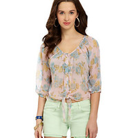 Angie Floral-Print Top